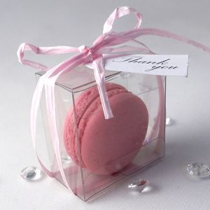 100 X French Macaron Wedding Favours - edible favours