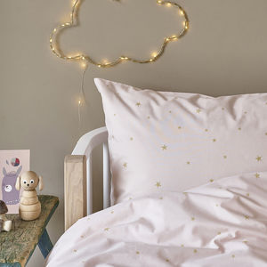 Pink Starry Sky Duvet Set In Cot Bed And Single