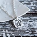 Handcrafted Silver Snowflake Necklace