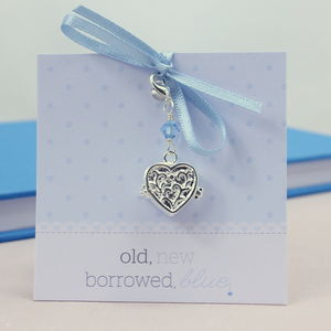 Personalised Something Blue Locket Charm - women's jewellery