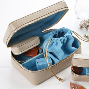 Luxury Jewellery Case And Travel Trinket Box Gift Set - storage & organisers