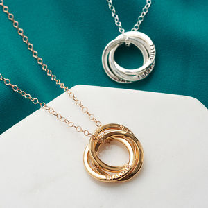 Personalised Russian Ring Necklace - mother's day gifts