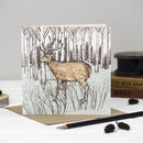 'Christmas Deer And Hares' Mixed Pack Of Cards