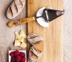 Personalised Cheese Slicer With Juniper Wood Handle - kitchen