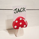 Toadstool Photo Holder