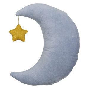 Velvet Moon And Star Cushion