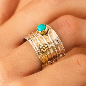 Turquoise Secret Garden Ring - rings