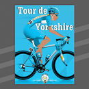 Tour De Yorkshire Bicycle Poster Print