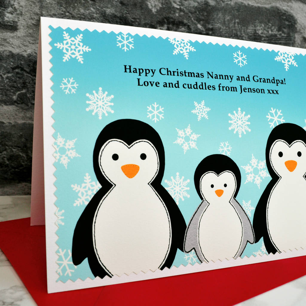 penguins\' christmas card for parents or grandparents by jenny arnott ...