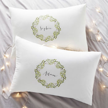 Mistletoe Couples Personalised Pillowcases