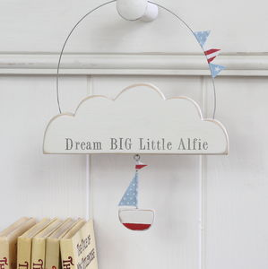 Personalised Dream Cloud For A New Baby - door plaques & signs