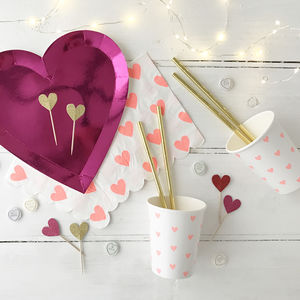 Love Themed Tableware Party Box