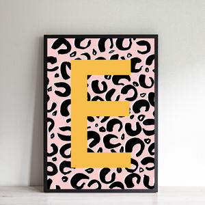 Personalised Mama Leopard Initial Print - posters & prints