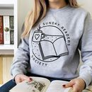 Sunday Reader's Society Logo Sweatshirt