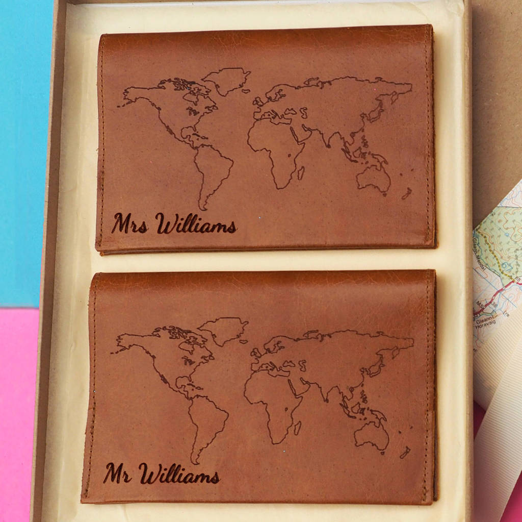 World Map Pport Holders In Tan