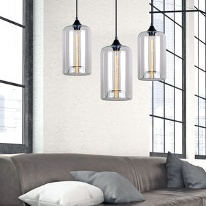 Art Deco Glass Pendant Light - living room