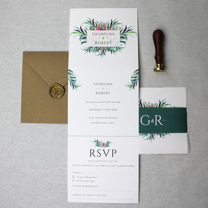 Floral Elegant Wedding Invitation Suite