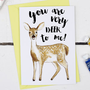You Are Deer To Me, Valentine's Card - valentine's cards