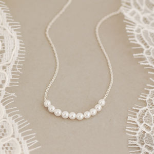 Delicate Sterling Silver Pearl Cluster Necklace - necklaces & pendants