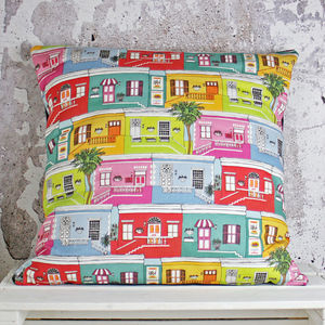 Cape Town Happy Houses Handmade Cushion Cover
