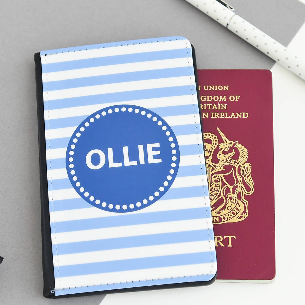 Koko Blossom Children's Personalised Passport Holder