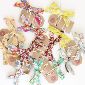 Bow Hair Clips - womens