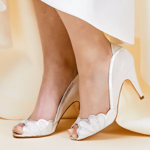 Wedding Peep Toe Shoes Isabelle