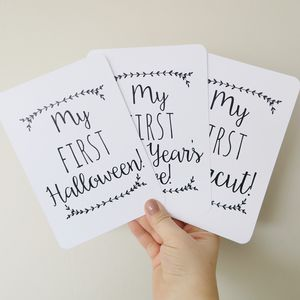 Classic Baby's First Milestone Cards - keepsakes