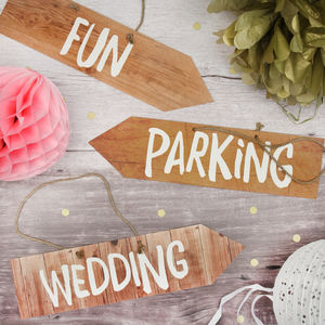 Wedding Party Signs - outdoor decorations