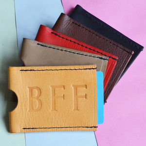 Personalised Best Friends Forever Travel Card Wallet