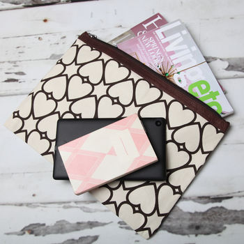 Printed Canvas Document Pouches