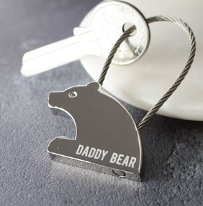 Personalised Bear Keyring - keyrings