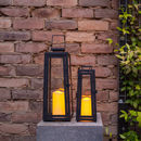 Set Of Two Yarra Solar Candle Lanterns