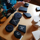 Wooden Chalk Shapes Set