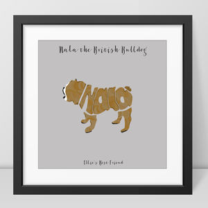 Personalised British Bulldog Picture