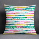 Abstract Watercolour Cushion Gradient Lines Laura Munoz