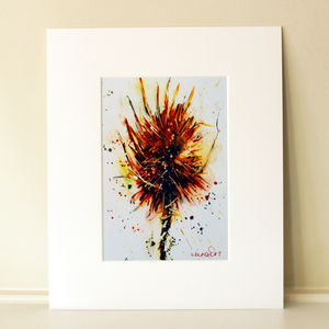 Countryside Print, Teasels One