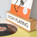 Personalised Vinyl Cover Holder Wooden Lightbox