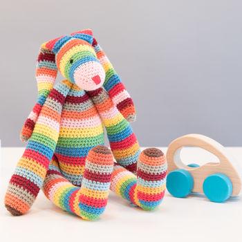 Striped Bunny Toy