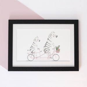 Personalised Mummy And Me Zebra Print