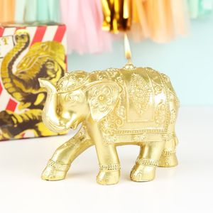 Gold Elephant Candle - home accessories