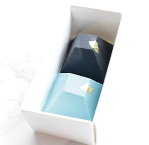 Blue Chocolate Pyramid Favour Duo X25