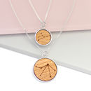 Personalised Mum And Baby Zodiac Necklace
