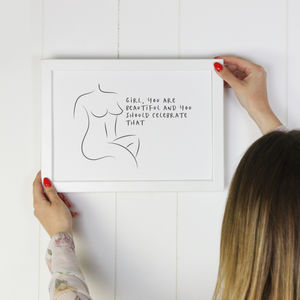 'Celebrate Your Body' Body Empowerment Print - summer sale