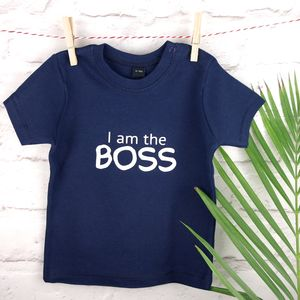 'I Am The Boss' Kids T Shirt - summer clothing
