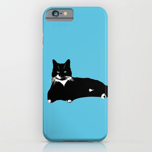 Black And White Cat On Phone Case - phone covers & cases