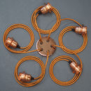 Copper Five Way Multi Outlet Ceiling Rose Pendant Kit
