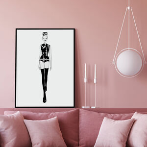 Fashion Illustration Fashion Michelle Wall Art Print