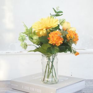 A Vibrant Faux Bouquet Of Yellow Flowers - fresh & alternative flowers