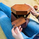Personalised Hexagonal Leather Jewellery Box